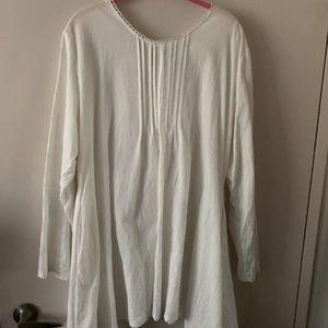 White Linen Blend Dress